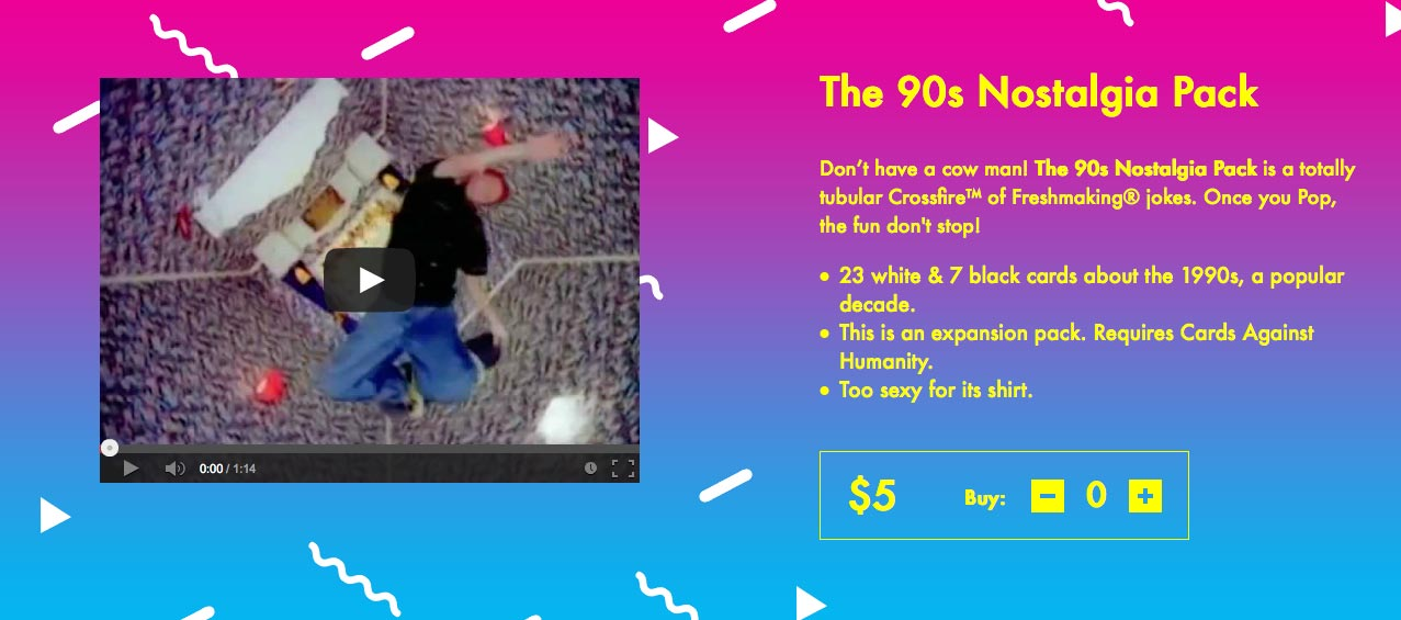 90s nostalgia pack