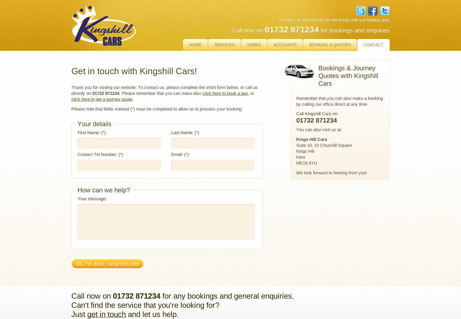 Kingshill Cars - 01732 871234 - Taxi and Private Car Hire in the Kingshill and Malling area