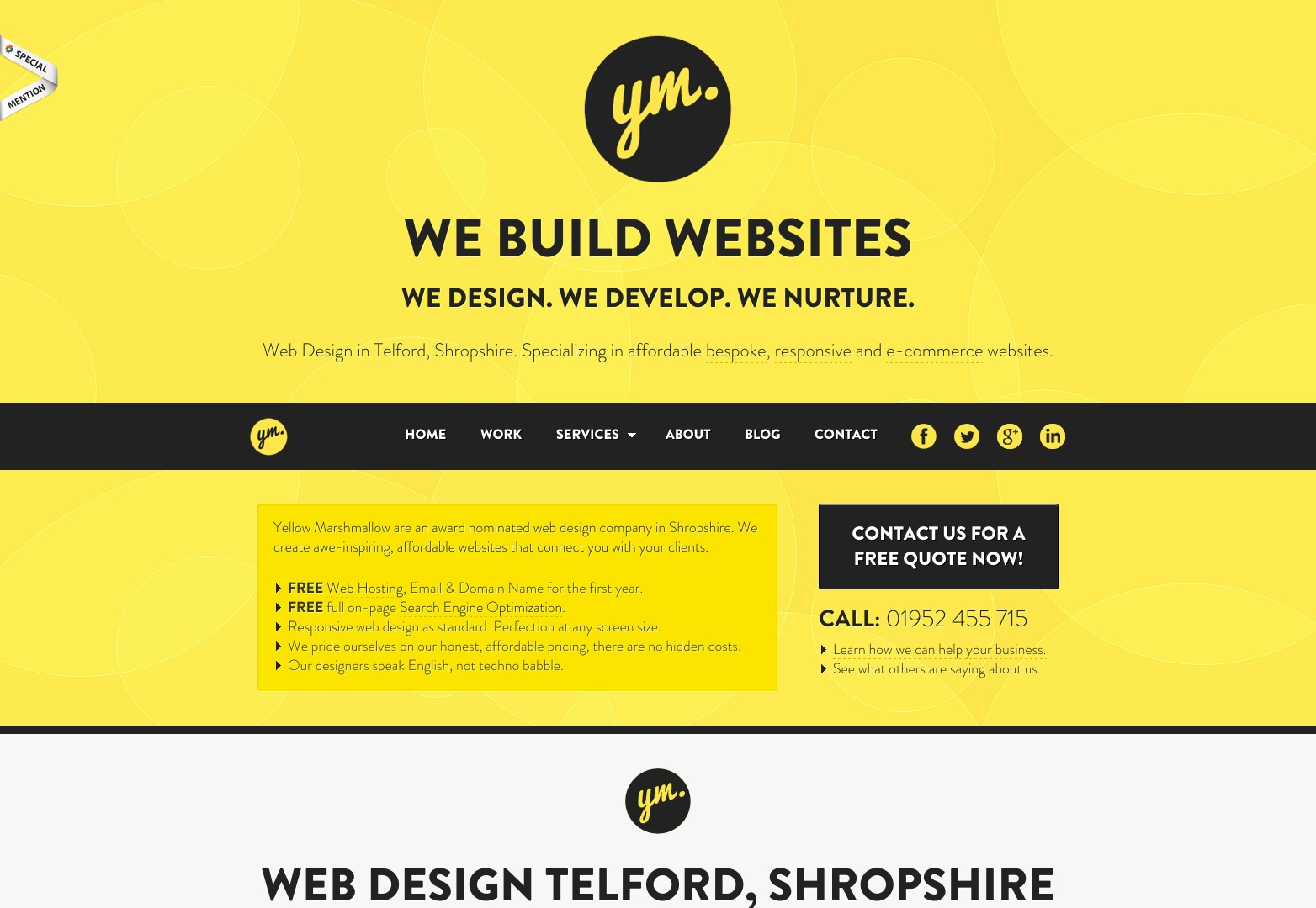 Web Design Telford | Web Design Shropshire | Yellow Marshmallow