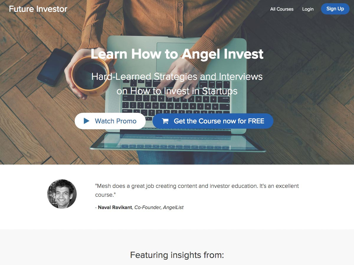 learn how to angel invest